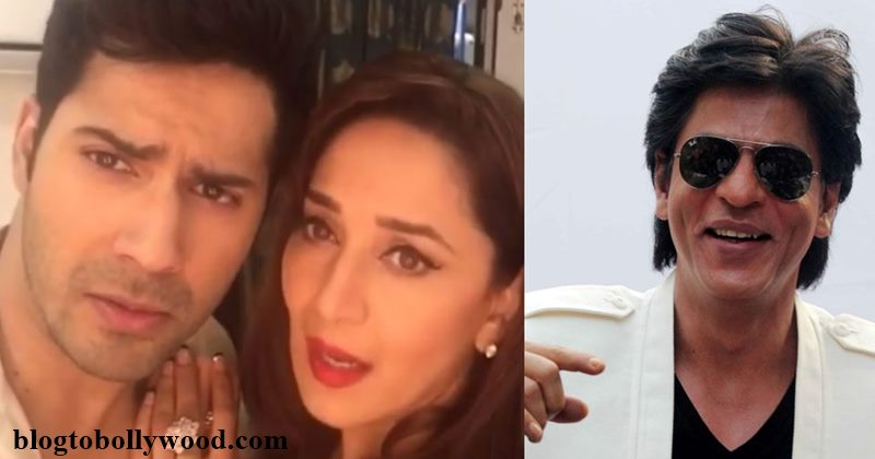 Shah Rukh Khan's reaction to Varun Dhawan-Madhuri Dixit's Dubsmash is the best!