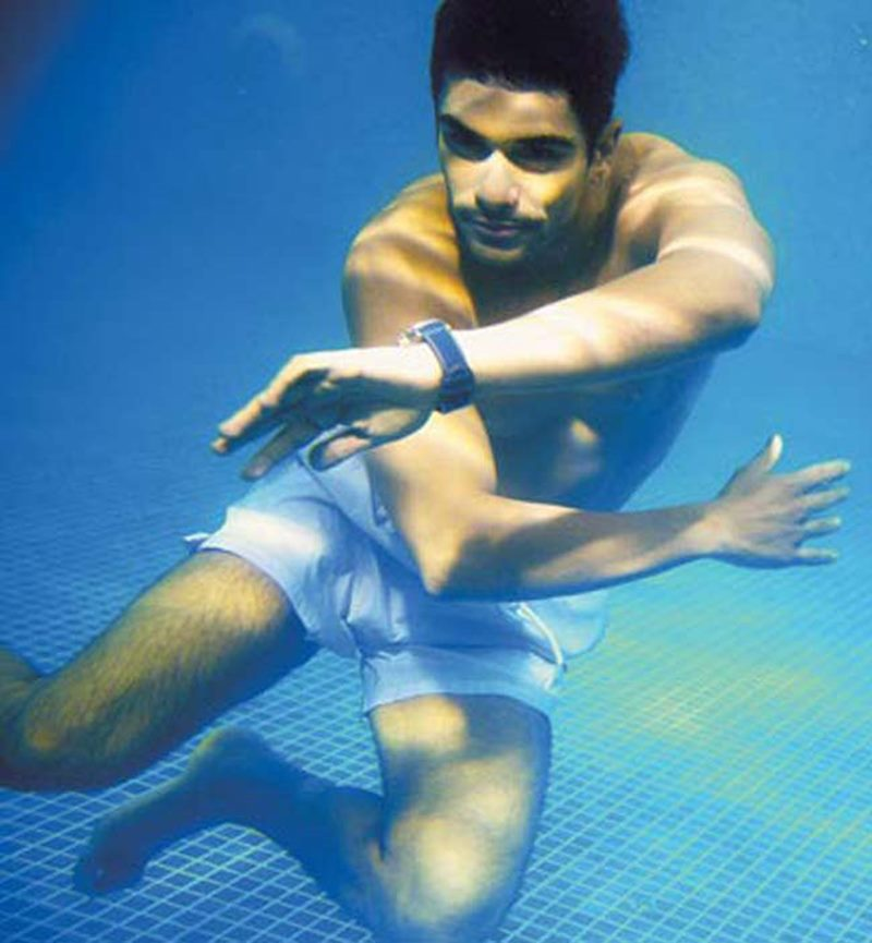 10 Hot Pictures of Angad Bedi that will make you wish he was your man!- Angad Swimming