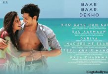 Baar Baar Dekho Music Review and Soundtrack- Perfect combo of happy,sad and crazy!