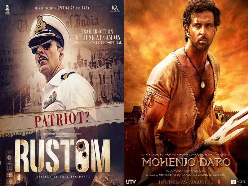 Rustom and Mohenjo Daro Overseas Box Office Collection Report
