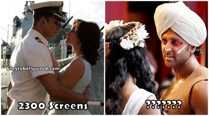 Rustom vs Mohenjo Daro - Screen Count And Budget