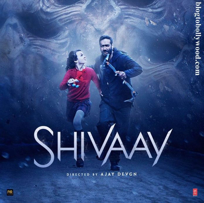 Ajay Devgn and Abigail Eames run away fearfully in latest Shivaay Poster