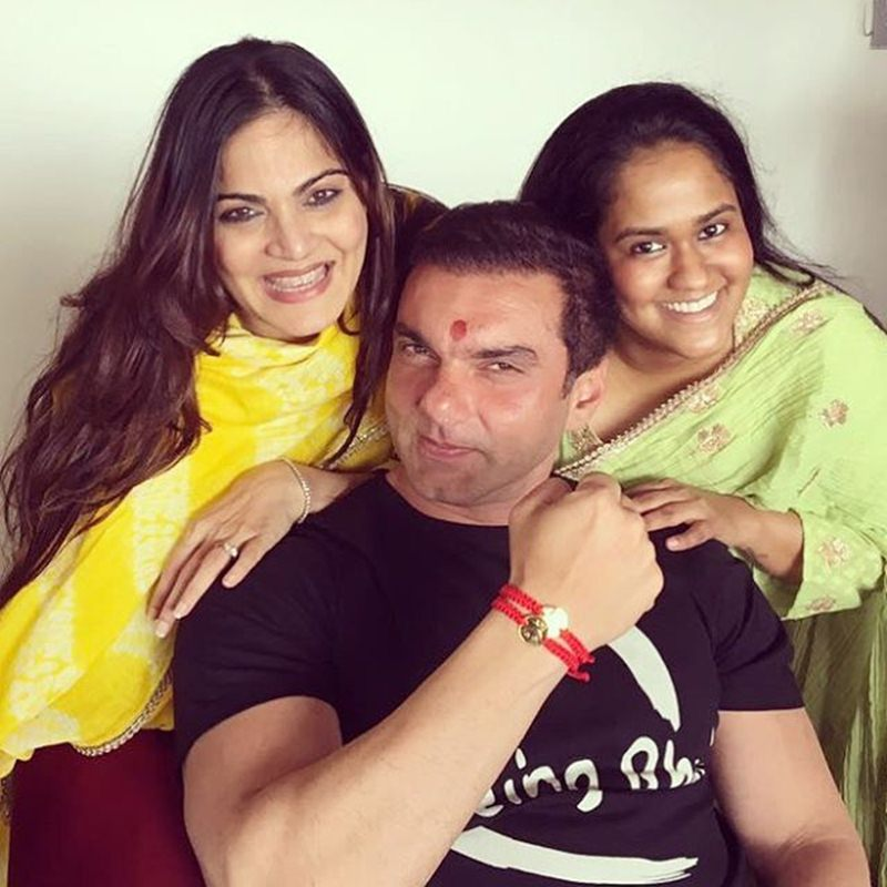 Pictures | Arpita Khan Sharma shared some great pics of the Khan's Rakhi celebration- Sohail with sisters