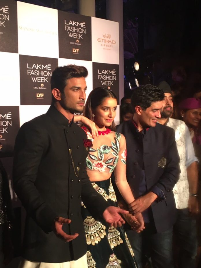 Sushant and Shraddha At Lakme Fashion Week