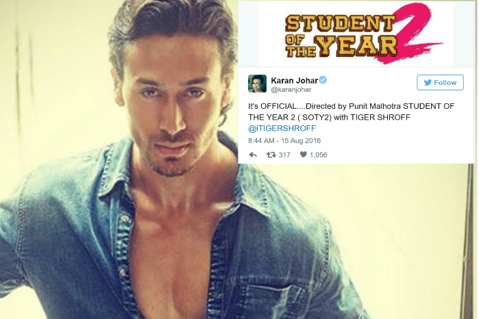 Official: Tiger Shroff To Play Lead Role In Student Of The Year 2