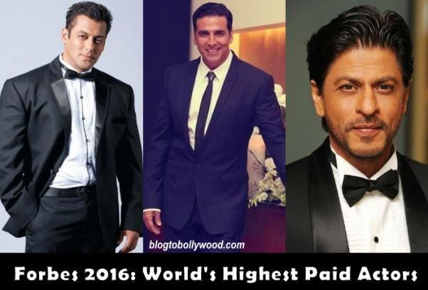 World's Highest Paid Actors Forbes 2016: Shahrukh Khan And Akshay Kumar In Top 10