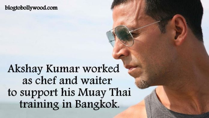 Akshay Kumar worked as waiter before entering Bollywood