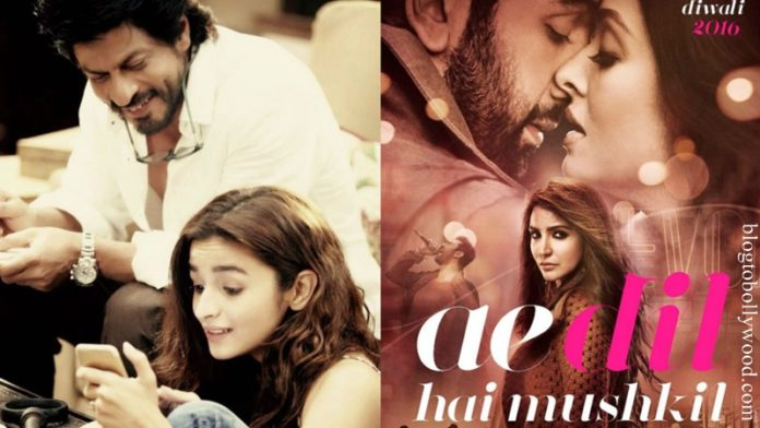 SRK-Alia's Dear Zindagi Trailer will be released with Ae Dil hai Mushkil