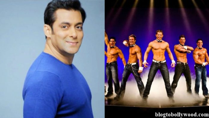 Salman Khan to make a movie highlighting male striptease artistes!