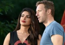 Priyanka Chopra with Coldplay singer Chris Martin at the Global Citizen Festival on Saturday at the New York's Central Park