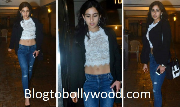 Sara Khan was last spotted at Bebo's birthday party on 21st September this year in a white crop top and tight-hug denims