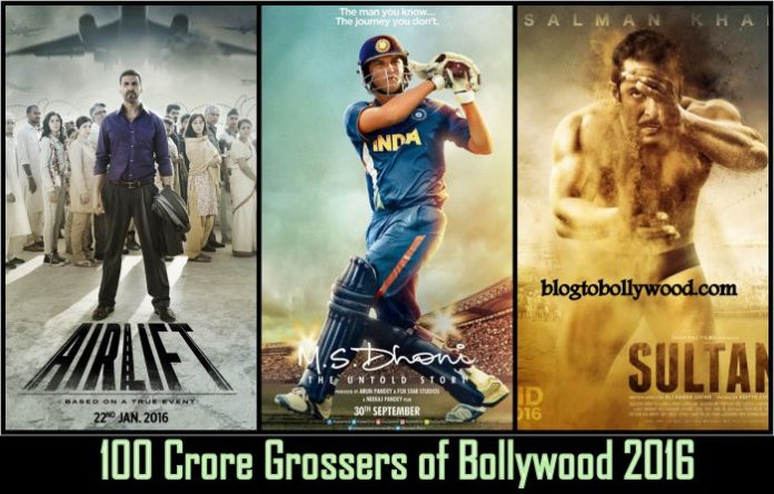 100 crore grossers of Bollywood 2016