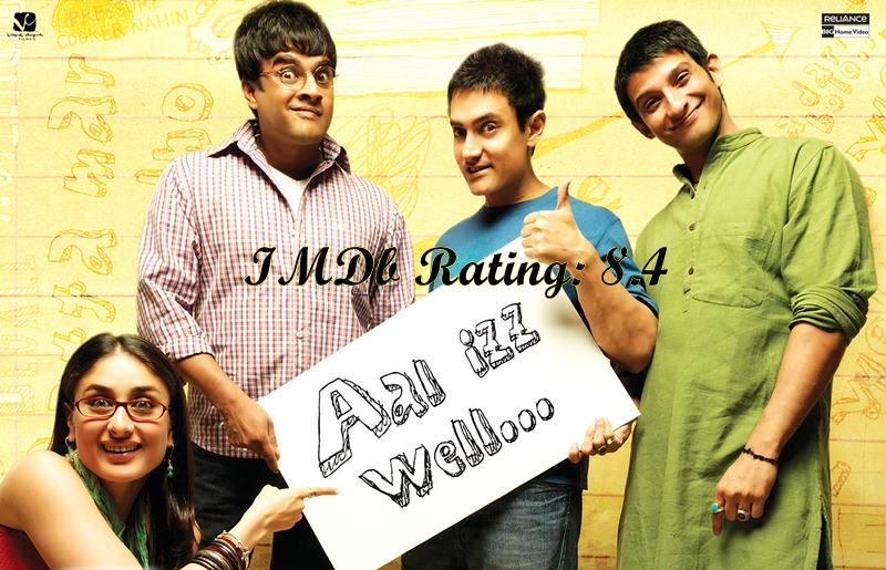 Top 10 Kareena Kapoor Khan Movies based on IMDb Ratings- 3 Idiots