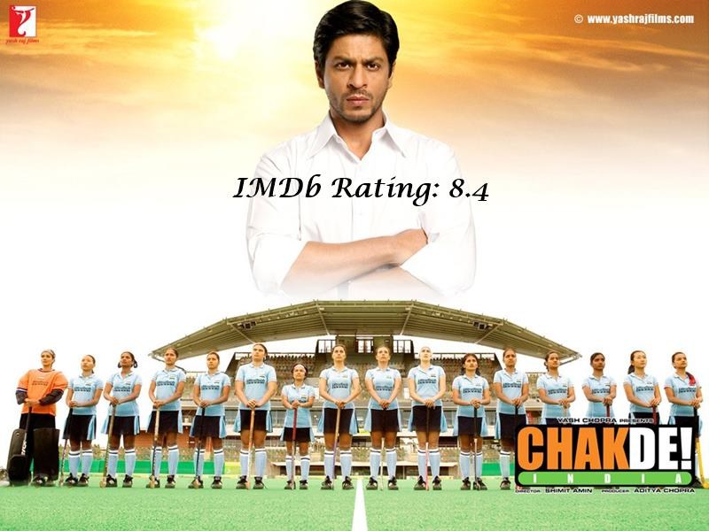 10 Best Shah Rukh Khan Movies Based on IMDb Ratings- Chak De! India