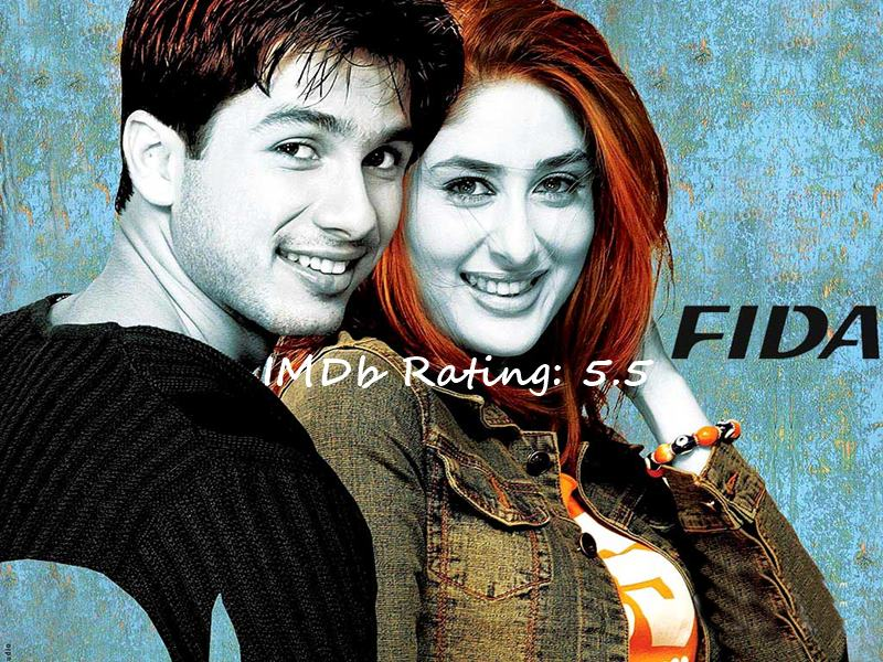Top 10 Shahid Kapoor Movies Based on IMDb Ratings- Fida