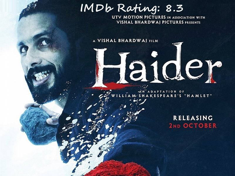 Top 10 Shahid Kapoor Movies Based on IMDb Ratings- Haider