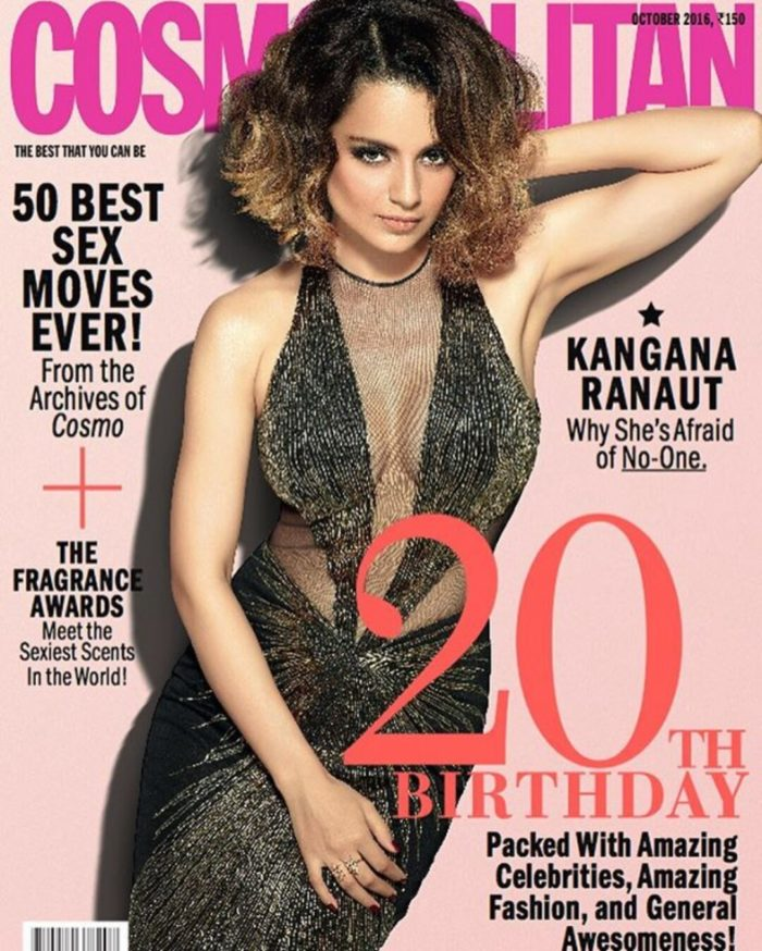 It's Kangana Ranaut Slaying It on Cosmopolitan's 20th Anniversary Issue