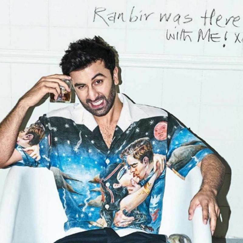 10 Hot Pics of Ranbir Kapoor that are too hot to handle!- Ranbir glass