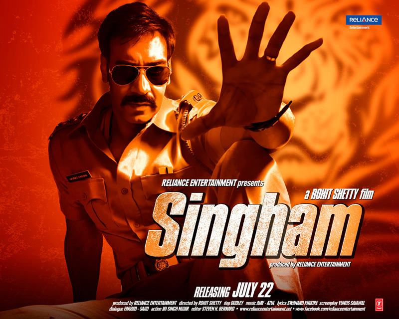 Top 10 Bollywood Movies based on South Indian Movies- Singham