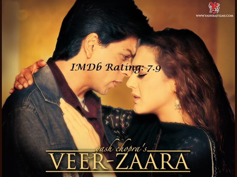 10 Best Shah Rukh Khan Movies Based on IMDb Ratings- Veer-Zaara