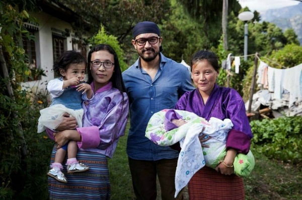 Aamir Khan in Bhutan to show support to end child malnutrition