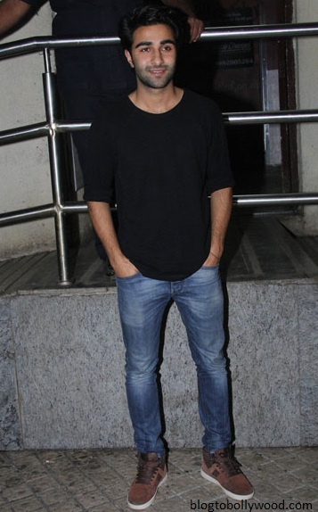Ranbir's cousin Armaan jain at the screening