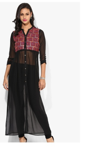 http://www.jabong.com/raindrops-Black-Embroidered-Georgette-Long-Kurti-1741897.html?pos=12