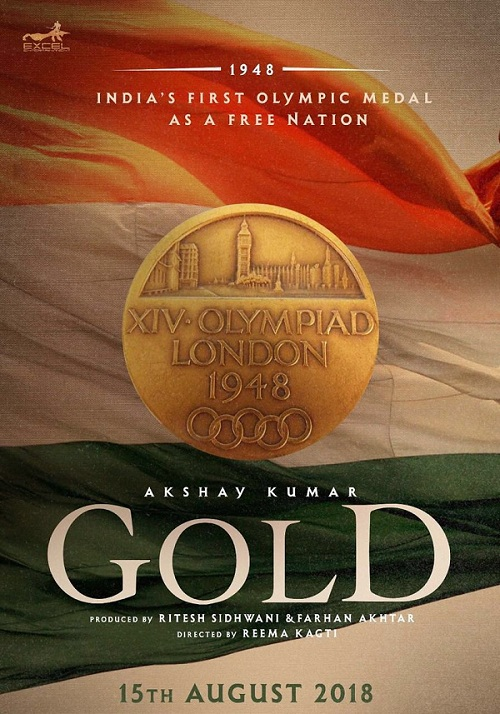 Akshay tweets the official movie poster of his 2018 Indepedence Day release, 'Gold'