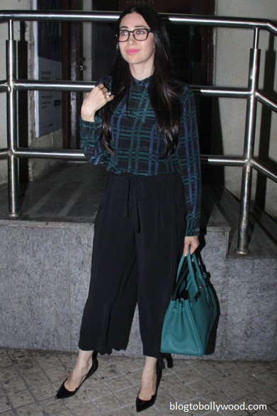 Karisma Kapoor slaying in a jumpsuit and Manolo Blahnik shoes