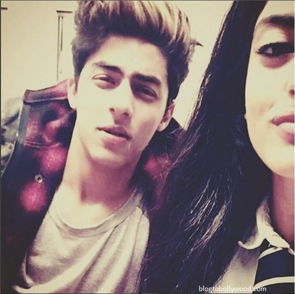 SRK's son Aryan Khan with Navya Naveli