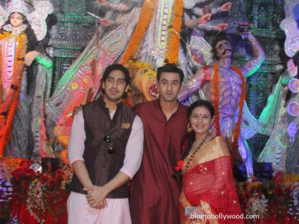 Bollywood celebrates Durga Pooja - Besties Ayaan Mukherjee and Ranbir Kapoor pose together