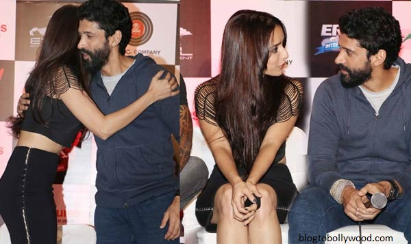 Farhan and Shraddha while promoting 'Rock on 2'