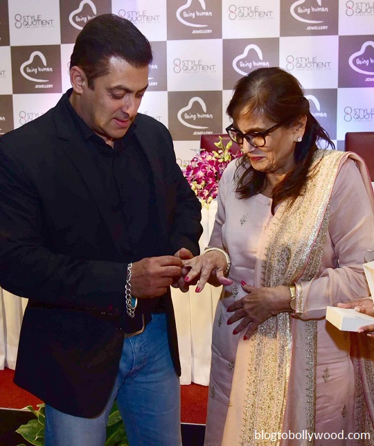 Salman Khan puts a ring onto his mother's finger!