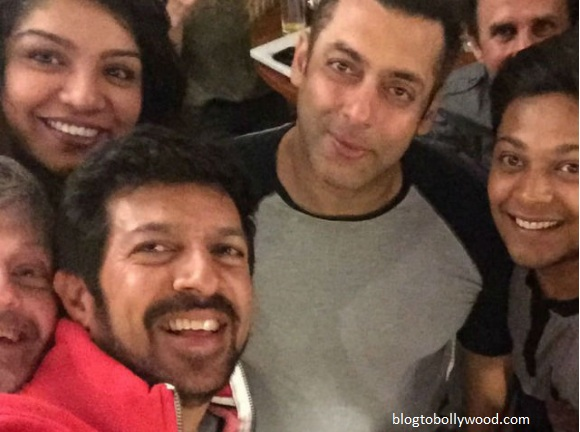 Salman Khan with director Kabir Khan and the team of 'Tubelight'