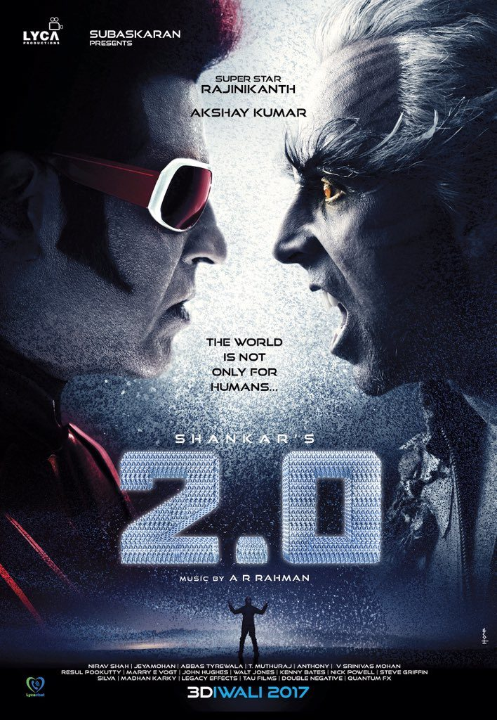 2.0 first look - Akshay Vs Rajinikanth