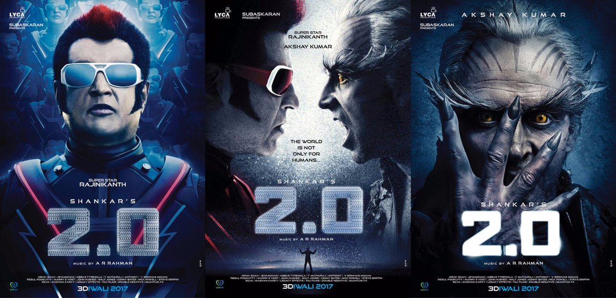 Akshay Kumar & Rajinikanth Are Out Of This World In Robot 2 (2.0) First Look