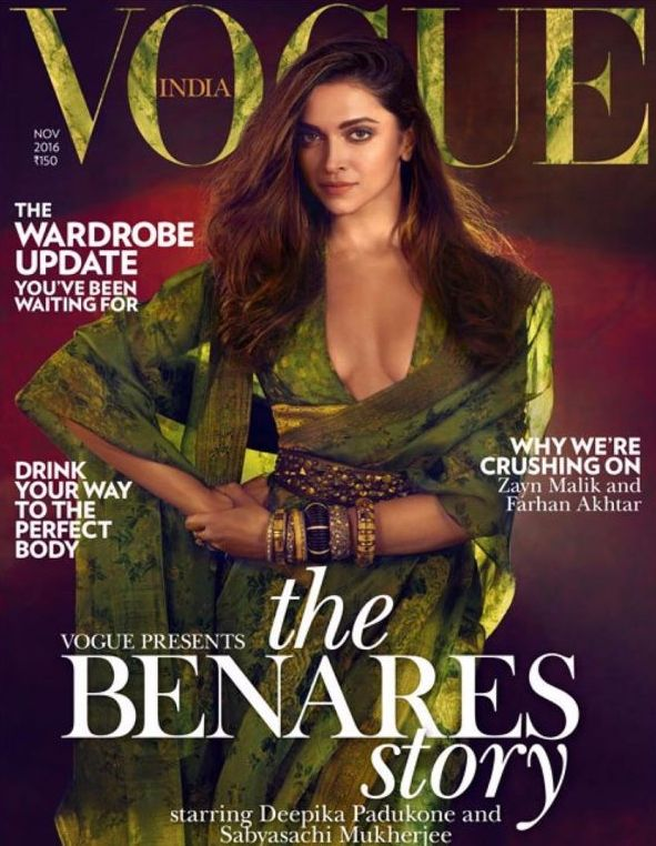 Deepika looks gorgeous as ever on Vogue India's November'16 Cover