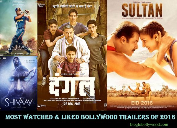Most Watched & Liked Bollywood Trailers Of 2016: Sultan, Dangal & Raees