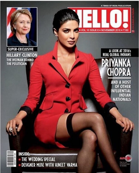 Priyanka Chopra is ruling on the Hello! magazine Cover like a boss!