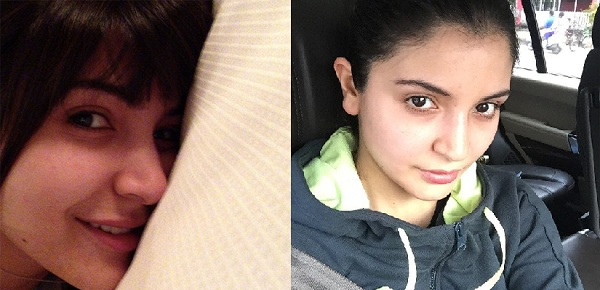 Anushka Sharma's bare face selfies prove she is the beauty queen!