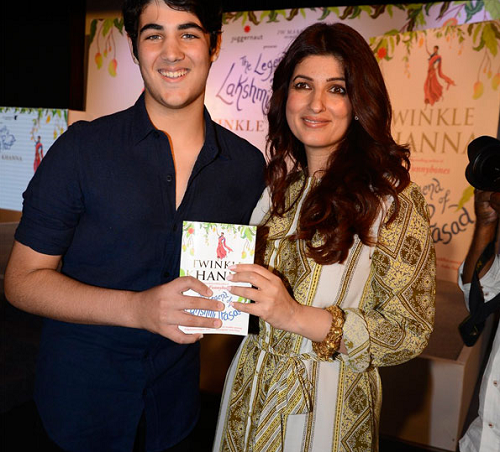 Twinkle Khanna with son Aarav Kumar