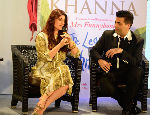 Twinkle Khanna with the host of the event and childhood friend, Karan Johar