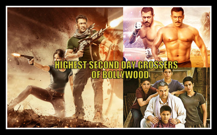 Highest Second Day Collection in Bollywood | Tiger Zinda Hai At 3rd Position