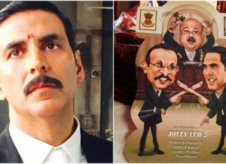 Jolly LLB 2 poster featuring Akshay Kumar is out