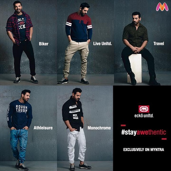 John Abraham has his own exclusive clothing line called Ecko Unltd on myntra.com