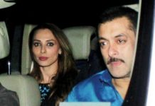 Salman Khan arrives on Lulia's shooting set, leaves along with her