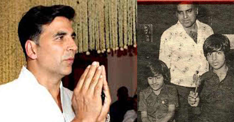 Akshay Kumar with father Hari Om Bhatia