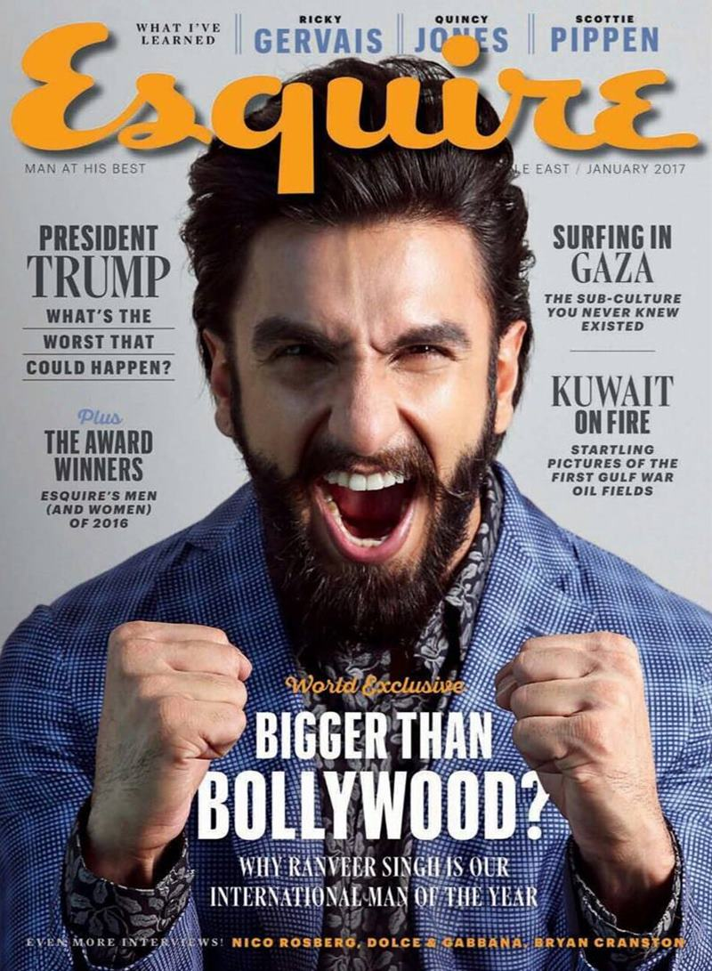 These pictures of Ranveer Singh prove that his beard game is on point!- Ranveer Cover Esquire