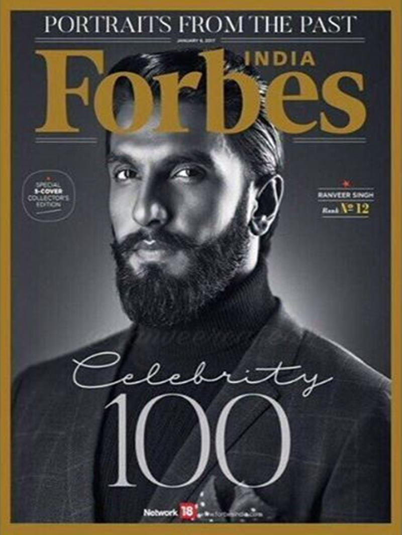 These pictures of Ranveer Singh prove that his beard game is on point!- Ranveer Forbes Cover