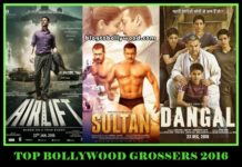 TOP BOLLYWOOD GROSSERS 2016 - DANGAL, SULTAN